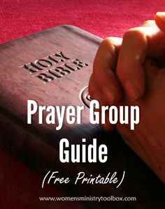 Looking to start a prayer group or need to get your group focused? Check out this free printable Prayer Group Guide and tips at Women's Ministry Toolbox.