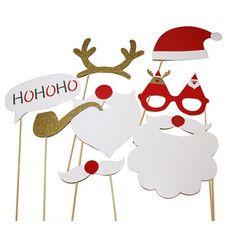 3.52  Grande Taille 8 pcs De Noël Photo Booth Prop De Noël Photographie  Fond De Noël Cadeau Décoration Festive Partie Fournitures dans Photobooth  Props de ... aebb5f95f3d