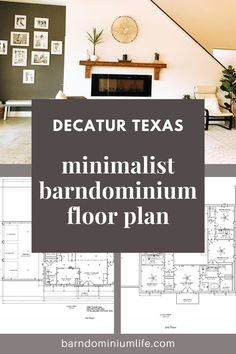 """This time our featured barndo is the Decatur Texas Barndominium, what the owners originally called the """"huge box"""" and is now turned into a Barndominium Dream Home! Get the barndominium floor plan for your barndominium inspiration plus get some useful tips on building your own barndominium dream home. Decatur Texas, Barndominium Floor Plans, Garage Apartments, Barn Homes, Open Concept, Square Feet, House Tours, Minimalist, Farmhouse"""