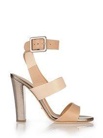 SERGIO ROSSI Nude 'Eleanor' Sandals #alducadaosta #newarrivals #spring #summer #women #fashion #style #accessories #apparel #sergiorossi