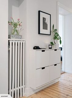 IKEA STÄLL Shoe cabinet with 4 compartments, white | Trade Me