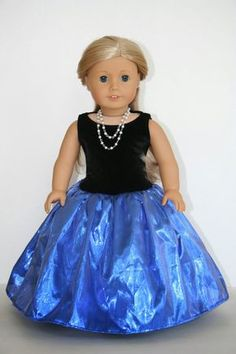 free tutorial and pattern on how to make a Fancy Dress for American Girl Doll