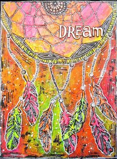 Dreamcatcher Canvas Painting By Keren Tamir