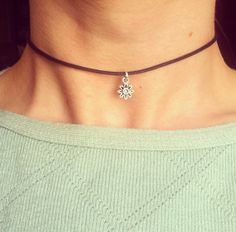 The Dainty Daisy Choker 90's Silver Flower by NomadicStore on Etsy, $20.00