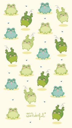 Ranas Frog Wallpaper, Drawing Wallpaper, Kawaii Wallpaper, Animal Wallpaper, Wallpaper Iphone Cute, Cartoon Wallpaper, Cute Wallpapers, Wallpaper Wallpapers, Mr Wonderful