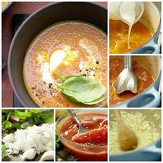 Mediterrane Tomatensuppe mit wunderbaren Aromen – ein Genuss für die ganze Familie: Tomatensuppe – smarter mit Basilikum und Zitronenjoghurt | http://eatsmarter.de/rezepte/tomatensuppe-smarter