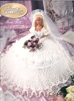 Crochet Doll Clothes Pattern BookBride Wedding by UnStash on Etsy