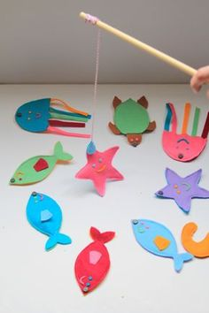 How to Sew a Fishing Game for Kids crafts for children How to Sew a Magnetic Fishing Game Kids Crafts, Sewing Projects For Beginners, Cool Diy Projects, Hobbies And Crafts, Sewing Tutorials, Sewing Ideas, Sewing Hacks, Sewing Toys, Sewing Crafts