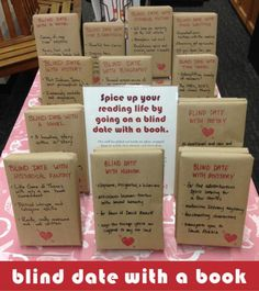 Blind Date with a Book Library Book Displays, Library Books, Library Ideas, Middle School Libraries, Elementary Library, Smash Book Inspiration, Friends Of The Library, Dating Book, Library Posters