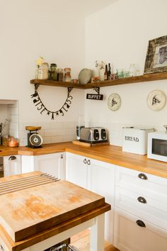 Ikea kitchen with rustic and industrial elements