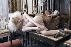 La Bohème. Hole magazine. photographer Juergen Knoth. Martina Dimitrova. vintage. inspired by puccini. underwear.