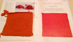 Noveno cuadrado de mi manta: PUNTO JERSEY REVES. #tricotfacilycreativo #punto #knitting #aprendiendoahacerpunto #squares #blanquet