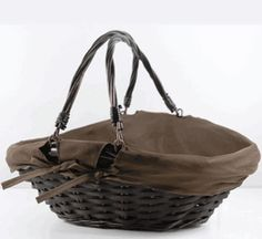 Willow Baskets 16.5 with Cotton Cover