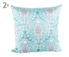 Oriential cushion turquoise