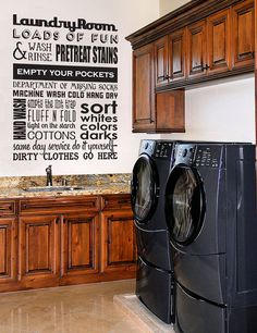 Laundry Room - Vinyl Wall Decal Sticker Art - Typography Wall Art