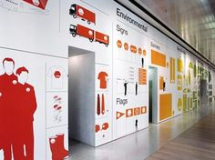 smart colorful wall illustrated graphics