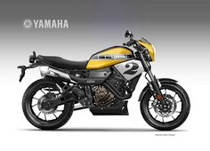"Motosketches: YAMAHA XSR 700 COOLEST BROTHER ""American Roadster""..."