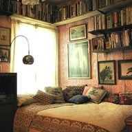 Indie bedroom and rustic chic