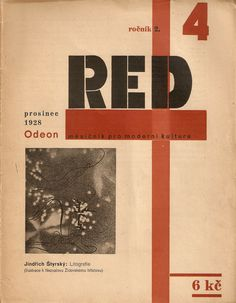 ReD magazine [Revue Devětsilu], Issue number 4, 1928 with constructivist covers by Karel Teige.