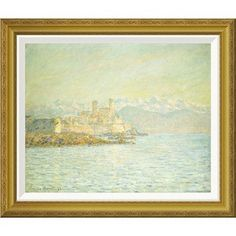 Global Gallery 'The Old Fort at Antibes' by Claude Monet Framed Painting Print Size: