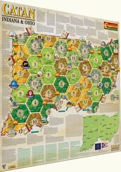 Catan Geographies – Indiana & Ohio