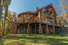 The Galinsky House constructed by Coleman Custom Log Homes of Blue Ridge, GA. The Galinsky House constructed by Coleman Custom Log Homes of Blue Ridge,… Log Home Plans, House Plans, Cabins In The Woods, House In The Woods, Log Homes Exterior, Log Home Interiors, Cedar Homes, D House, Log Cabin Homes