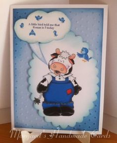 This card I made for a friends little boy. I used inks and glitter.