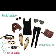 Ideia de look básico com pulseiras Cor de Ideia #pulseirismo #moda #fashion #cordeideia