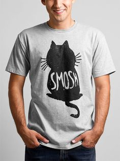 Who doesn't love a cute cat? Smosh does and so will you in this Cat Silhouette t shirt for guys