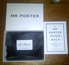 Mr Porter Packaging is perfection. PERSONALISED NAME ON PACKAGING