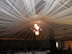 Wedding Ceiling ... only with a chandelier in the middle