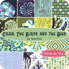 Creek The Birds and the Bees Fat Quarter Bundle Tula Pink for Free Spirit Fabrics - Fat Quarter Shop