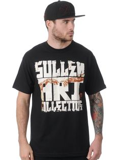 Judgement Men's Black T-Shirt by Sullen Front Design by Zisto