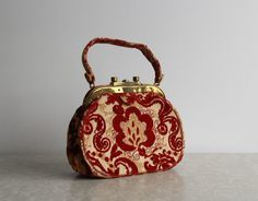 eaa73189715da Vintage Bergdorf Purse . High Fashion Accessory . 1950s . Boho Carpet Bag