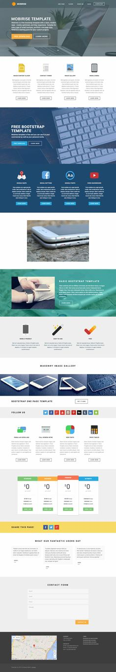 MOBIRISE Bootstrap template https://mobirise.com/bootstrap-template/one-page.html