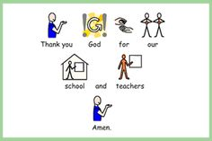 Widgit Symbol Resource Packs to support the teaching and learning of the R. Prayer Books, Thank You God, Special Needs, Curriculum, Prayers, Symbols, Teacher, Learning, School