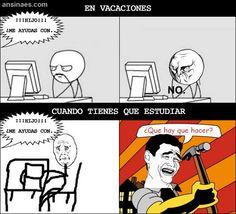 Memes Chistosos - Cuando te piden Ayuda en Vacaciones
