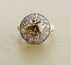 1930s Diamond Ring 4.90 Carat  Champagne Diamond by SITFineJewelry, $32,500.00