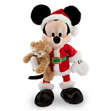 Santa Mickey Mouse Plush with Duffy the Disney Bear - 18''
