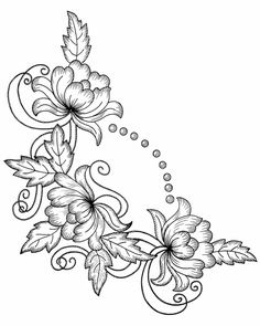 Irresistible Embroidery Patterns, Designs and Ideas. Awe Inspiring Irresistible Embroidery Patterns, Designs and Ideas. Embroidery Flowers Pattern, Hand Embroidery Designs, Flower Patterns, Blackwork Embroidery, Embroidery Stitches, Embroidery Art, Embroidery Supplies, Bordado Jacobean, Backpiece Tattoo