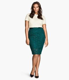 H&M+ | Pencil Skirt in Lace
