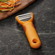 OXO ® Orange Julienne Peeler - Crate and Barrel #EverythingOrange