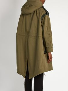 Detachable shearling-collar oversized parka | Burberry Prorsum | MATCHESFASHION.COM UK