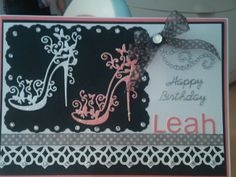 Birthday card, made using Tattered Lace die, Spellbinders die and Tonic Studio punch.