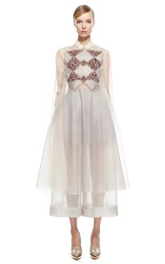 Long Embroidered Shirt by DELPOZO for Preorder on Moda Operandi