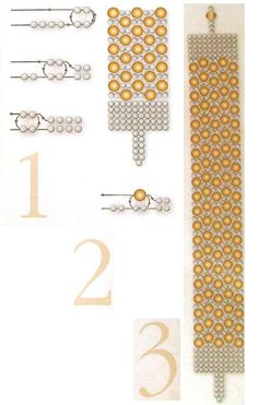 """Bracelet """"random snow"""" tutorial 4mm faceted beads, 11/0 seed beads and 1 6mm for clasp"""