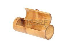 bamboo tube box isolated on white background