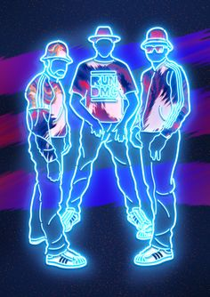 """Lights"" posters for Adidas Superstar Moscow art space by Vasya Kolotusha, an Ukrainian graphic designer and illustrator'' Run Dmc, Aesthetic Galaxy, Neon Licht, Neon Design, Graphic Design, Psy Art, Hip Hop Art, Neon Light Signs, Light Of My Life"