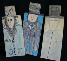 Abraham Lincoln foldable books template