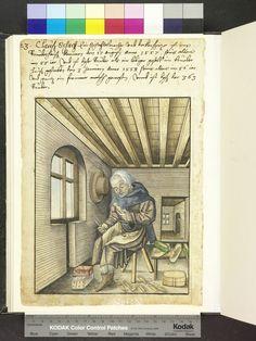 1558 toymaker, possibly chess. dolls and boxes  Die Hausbücher der Nürnberger Zwölfbrüderstiftungen